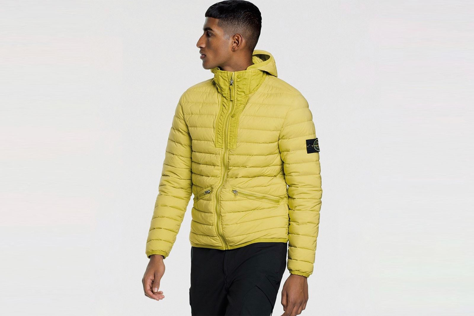 stone island loom woven chambers stretch nylon tc jacket