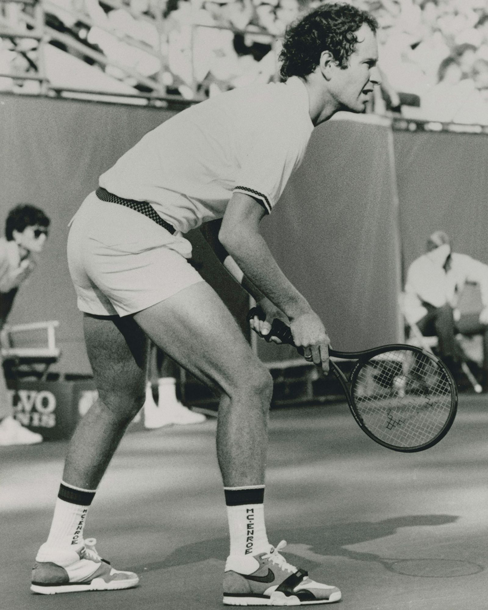 John McEnroe wearing the Nike Air Trainer 1