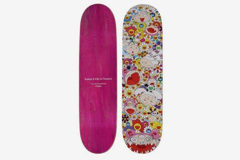 Skulls & Flower and Kaikai & Kiki Flower Skate Decks (Two Works), 2017