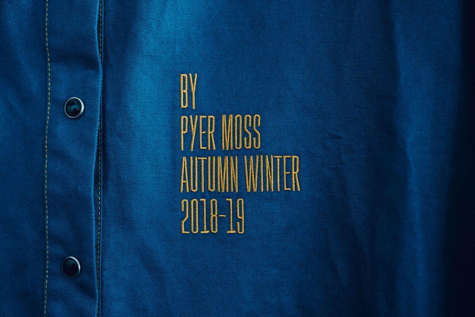 pyer moss sneakers highsnobiety bryan luna Fw18 fall winter 2018 new york fashion week