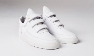 Filling Pieces and Daily Paper to Release All-White Low-Top Velcro Sneakers