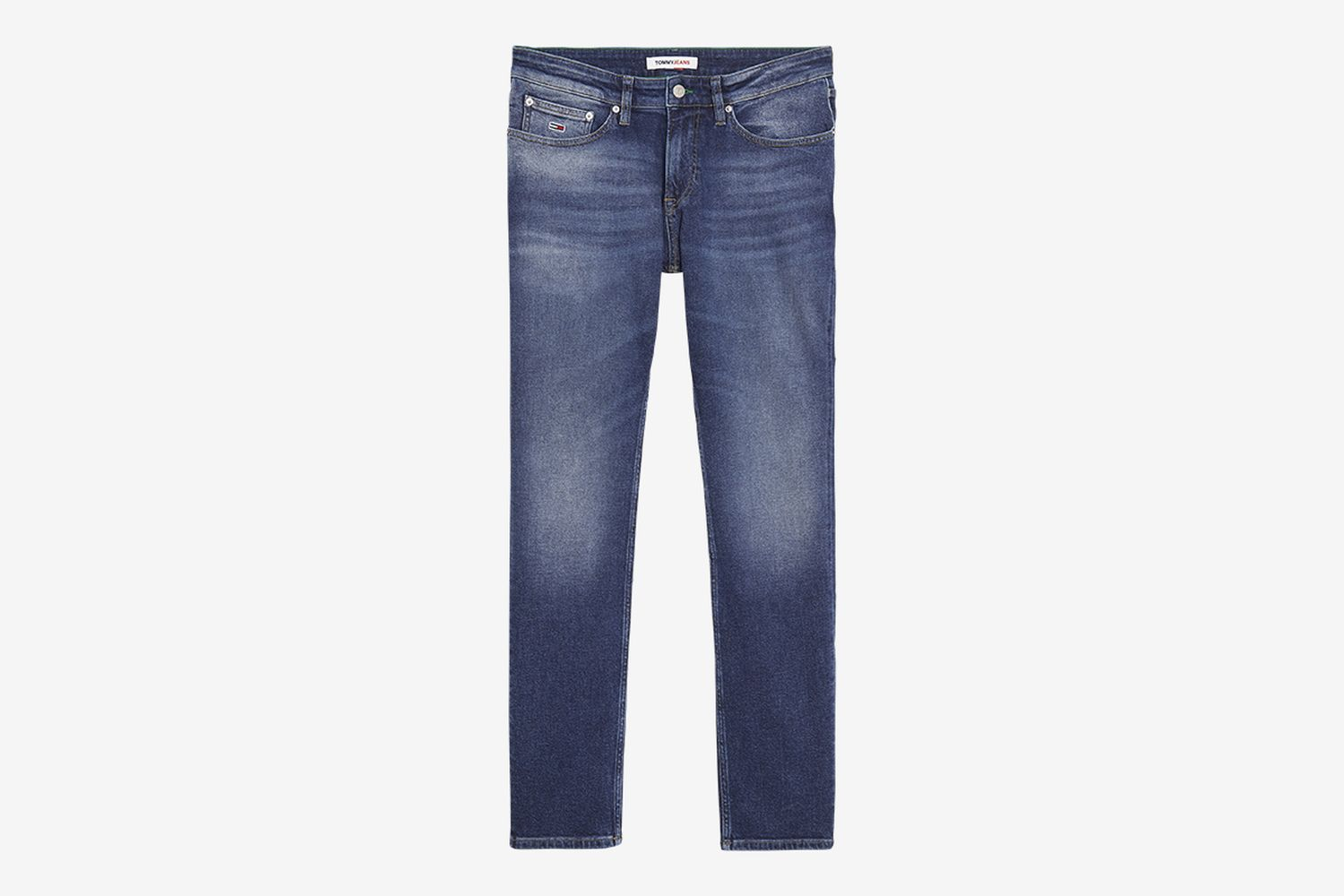 Slim Fit Washed and Worn Jean