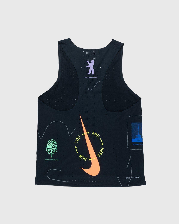 Nike x Highsnobiety – Mens Dri-Fit Berlin Aeroswift Singlet Black - Image 2