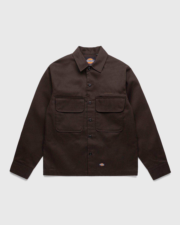Highsnobiety x Dickies – Service Shirt Dark Brown - Image 1