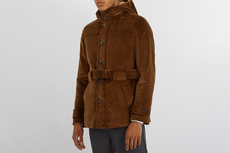 Hooded Cotton-Corduroy Field Jacket