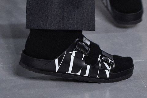 Valentino Birkenstocks and Black Socks