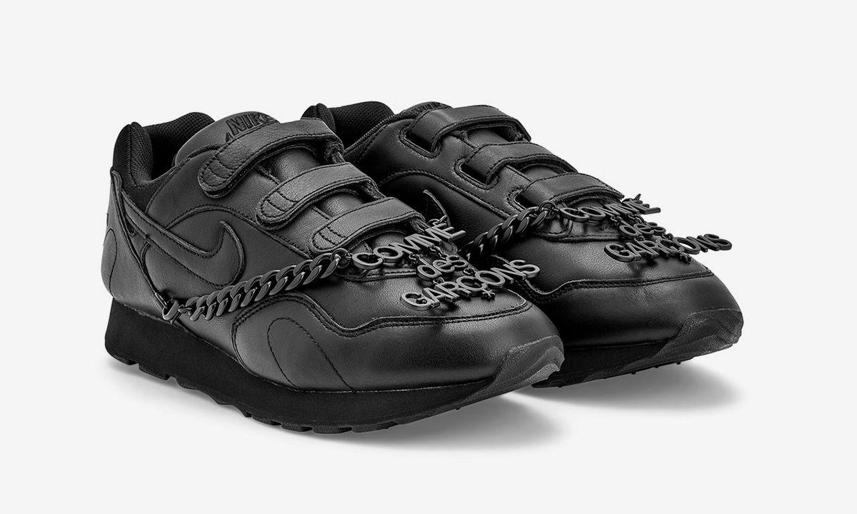 COMME des GARÇONS' Nike Outburst Features Velcro Straps & a Detachable CDG Chain