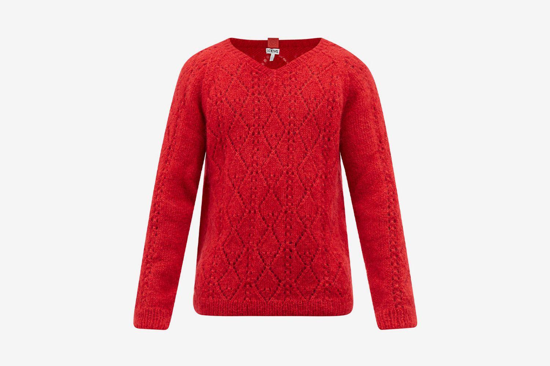 Latticed Sweater