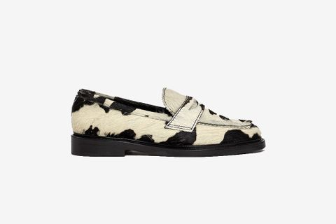 Cow Print Loafer