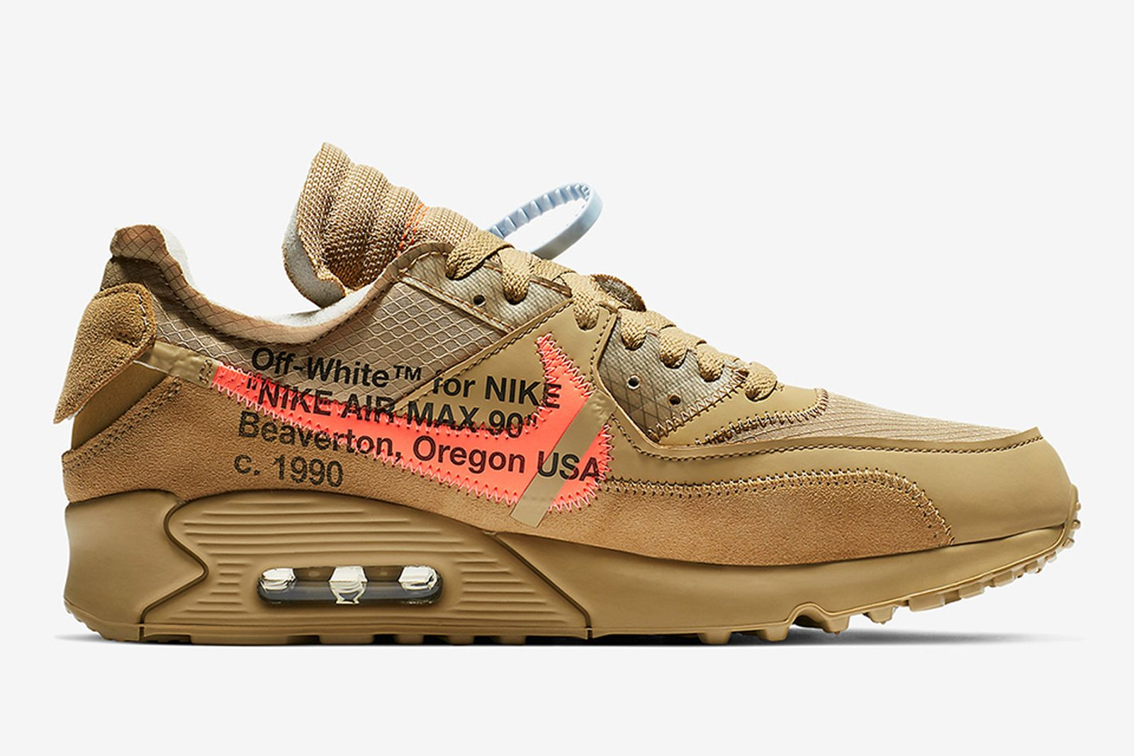 off white nike air max 90 desert ore release date price info OFF-WHITE c/o Virgil Abloh
