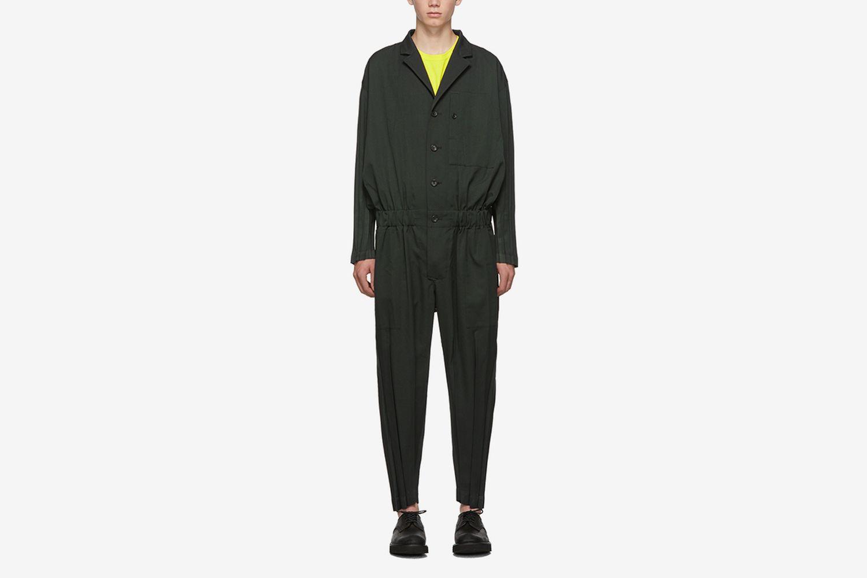 Wool Wrinkle Jumpsuit