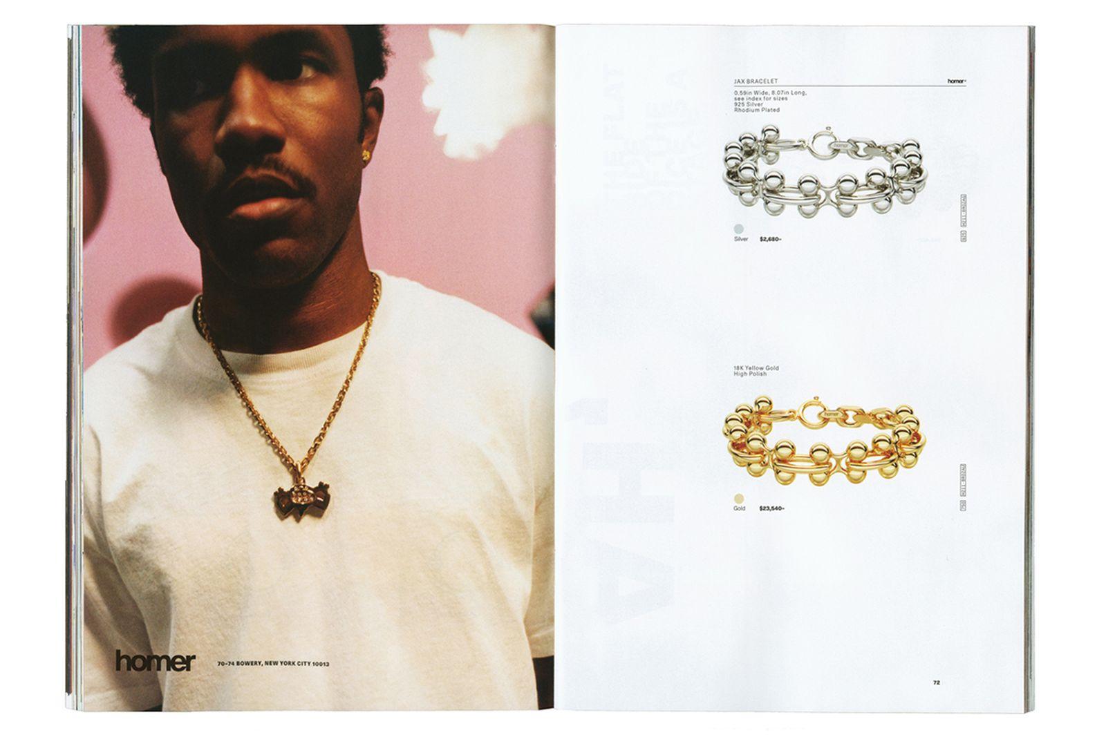 Frank Ocean Homer Brand store Catalog collection jewelry silk scarves bracelet