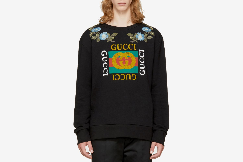 Black 'Loved' Logo Sweatshirt