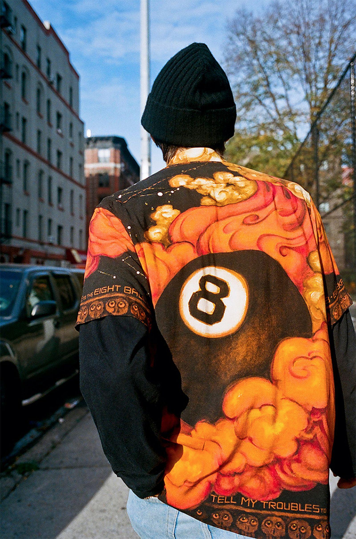 Supreme Martin Wong Eight Ball Flame Shirt