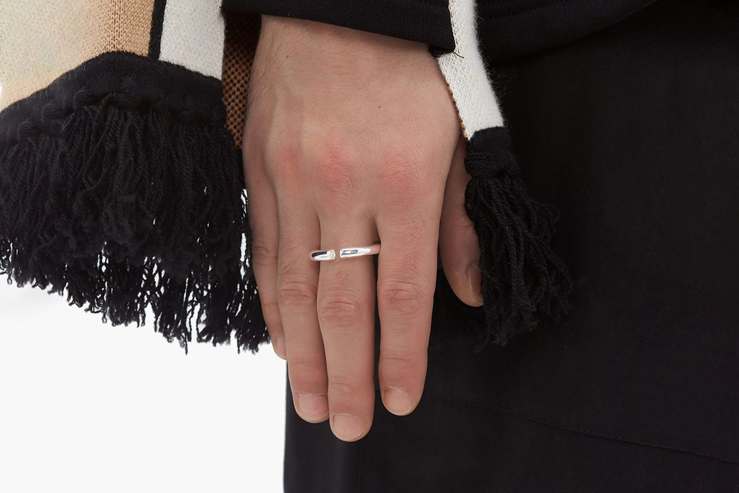 Almost Sterling Silver Ring