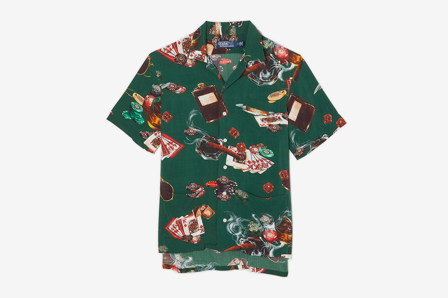 Poker Short Sleeve Button Up Shirt