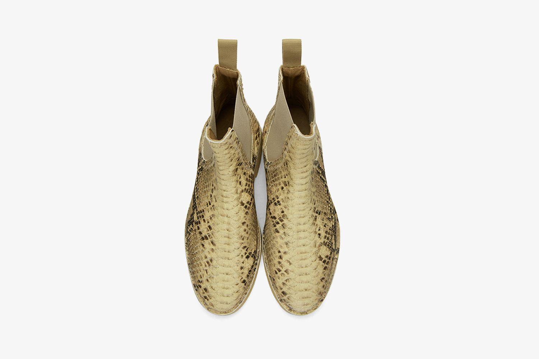 Faux-Python Chelsea Boots