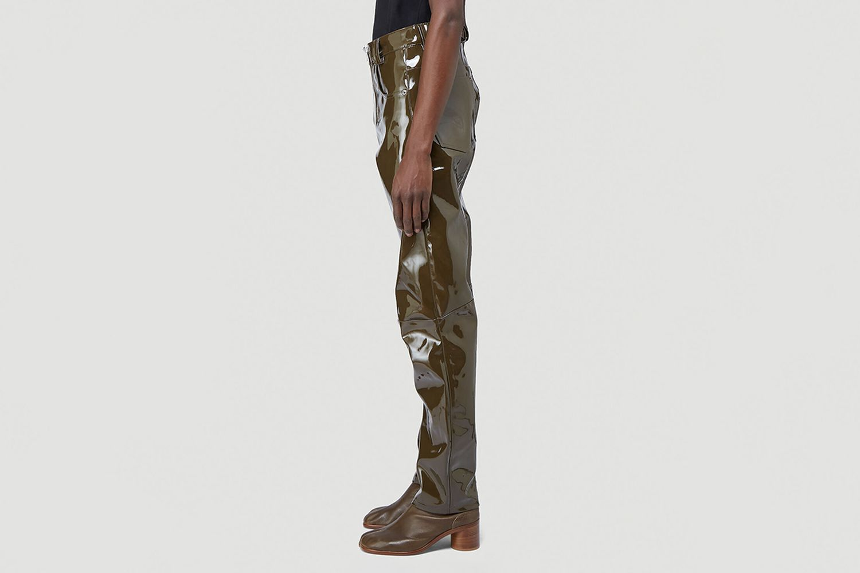 Double Zip Vinyl Pants