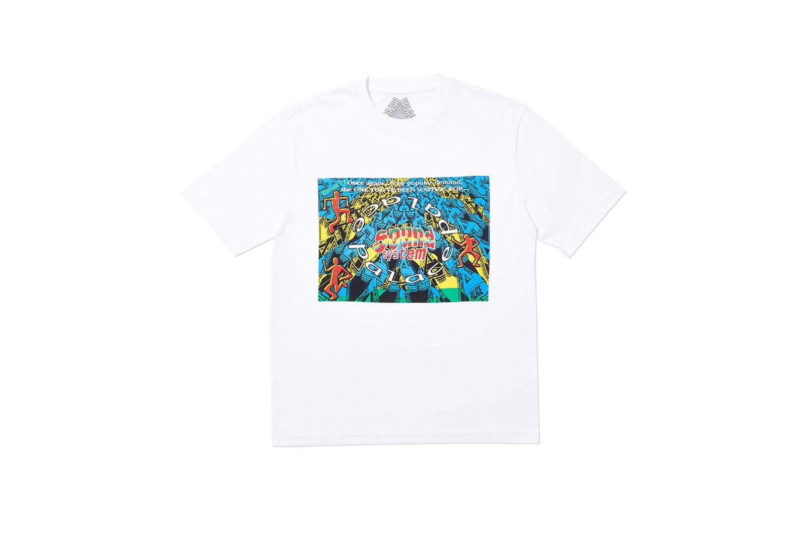 Palace 2019 Autumn T Shirt Sound Mate white