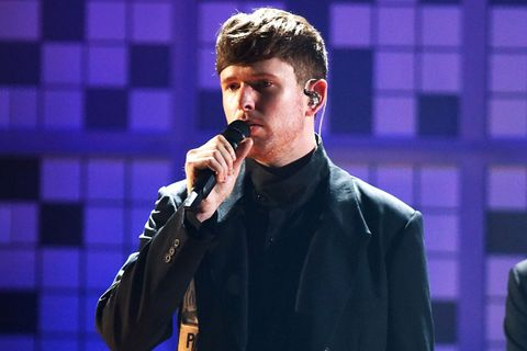 James Blake performs at tha 61st Annual Grammy Awards