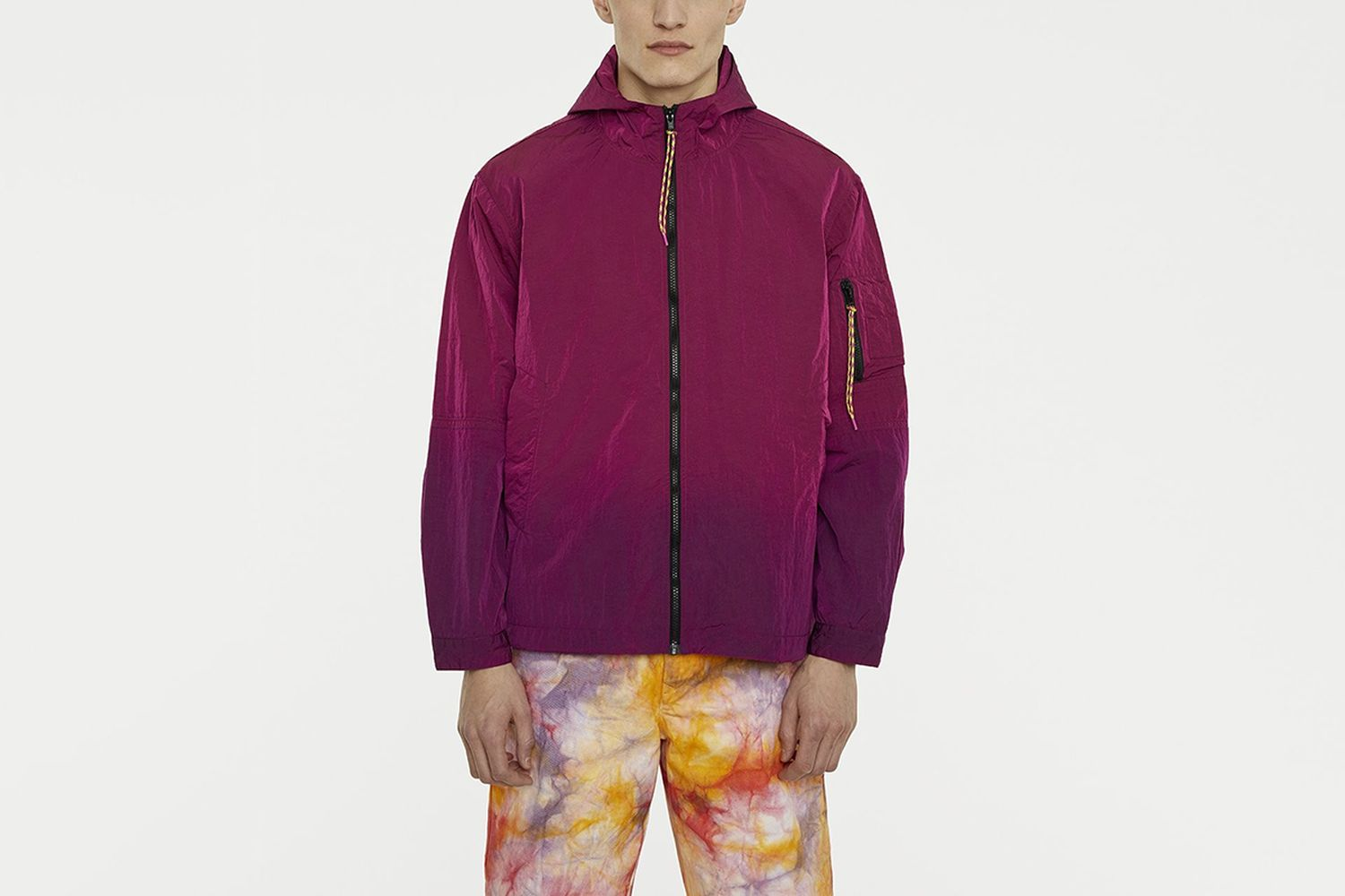 Ombre Dyed Tech Jacket