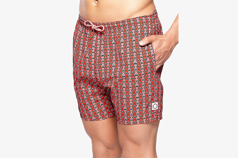 Shark-Print Swim Shorts