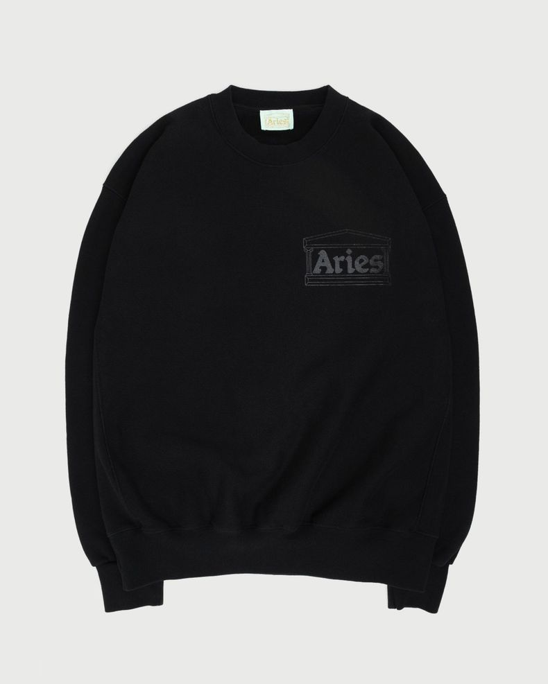 Aries — Premium Temple Sweatshirt Black