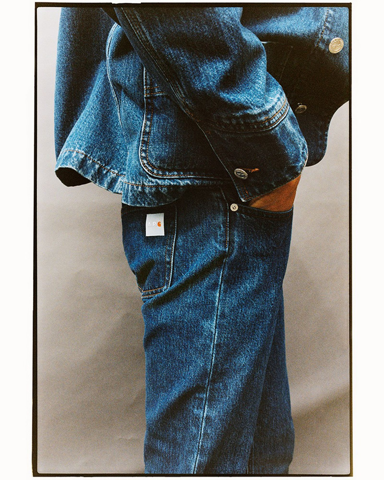 A.P.C. x Carhartt WIP Jeans and Blue Denim Jacket