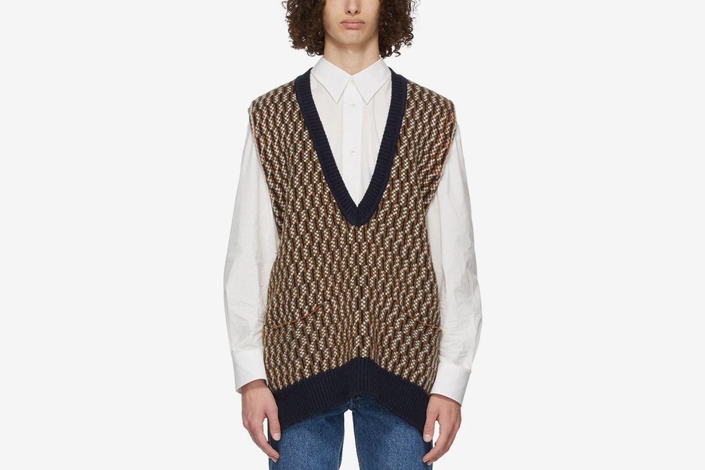 Jacquard Pullover Sweater Vest