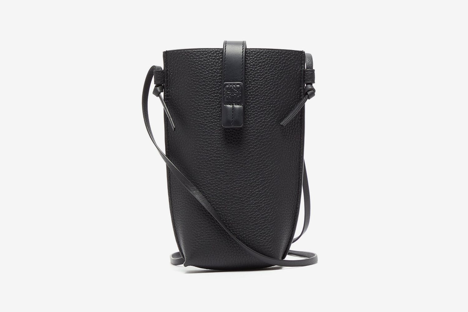Pocket Grained-Leather Cross-body Bag