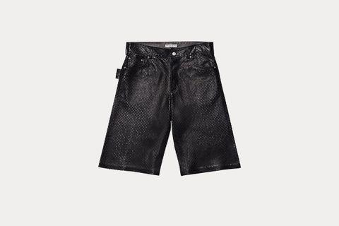 Bermuda Shorts in Punched Nappa