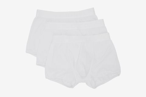 Three-Pack White Stretch Boxers