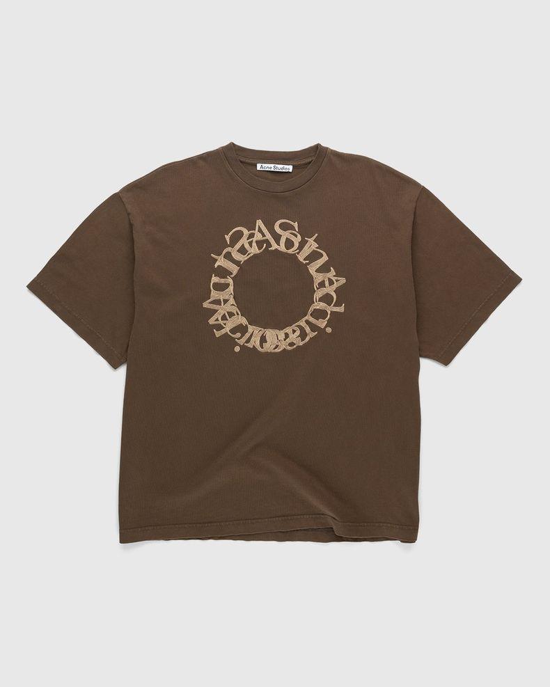 Acne Studios – Cotton Logo T-Shirt Chocolate Brown