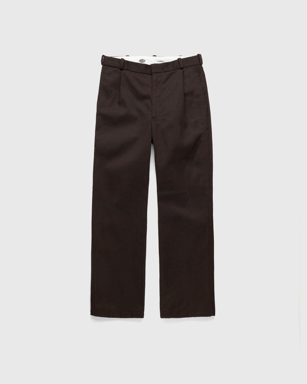 Highsnobiety x Dickies – Pleated Work Pants Dark Brown - Image 1