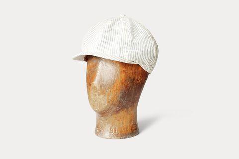 Pinstripe Newsboy Cap