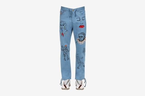Artwork Cotton Pants