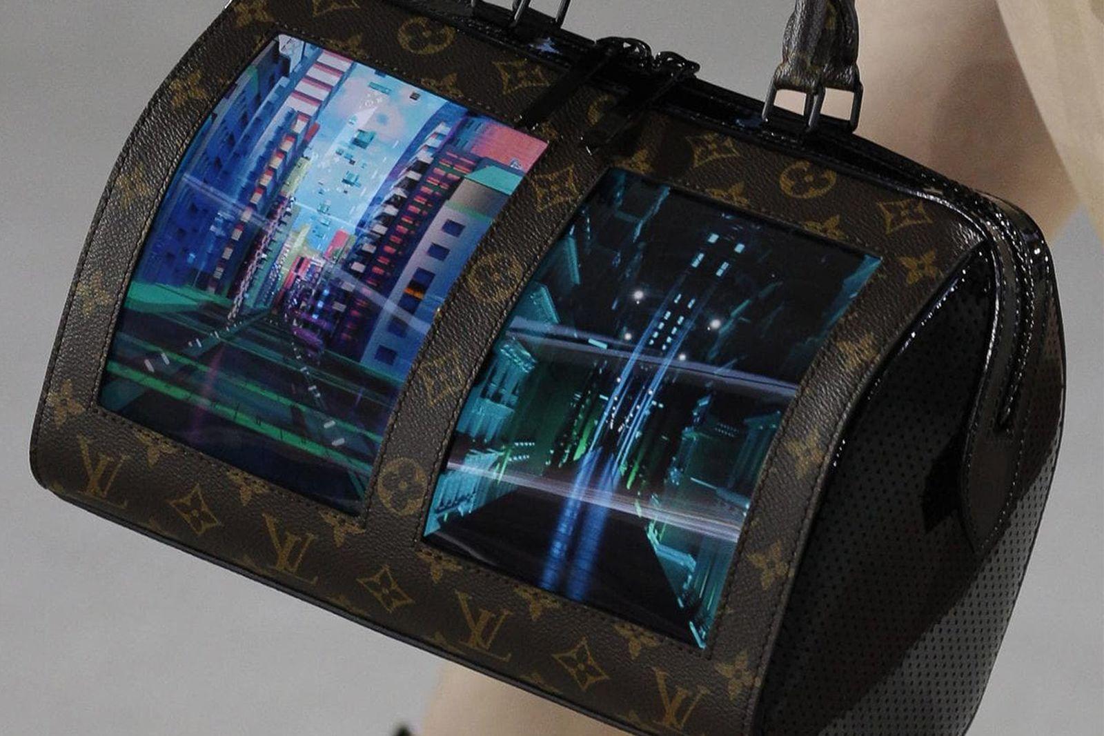 louis vuitton screen handbags Cruise 2020