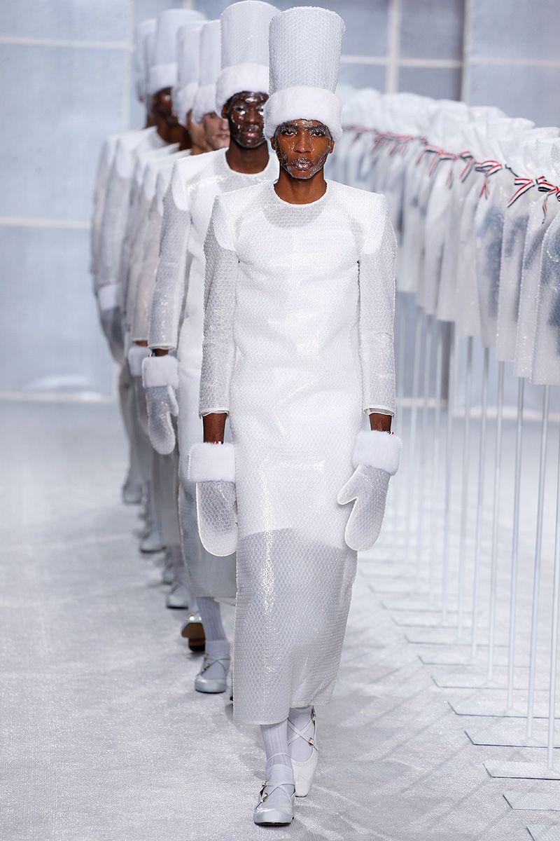 Thom Browne Turns to Bubble Wrap for Extraordinary Paris Fashion Week Show