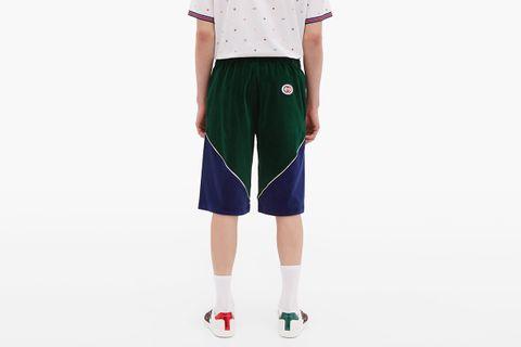 Piped Velvet Shorts