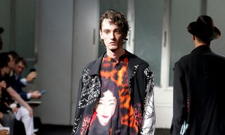 Yohji Yamamoto Presents Eclectic Graphic Tailoring for SS19