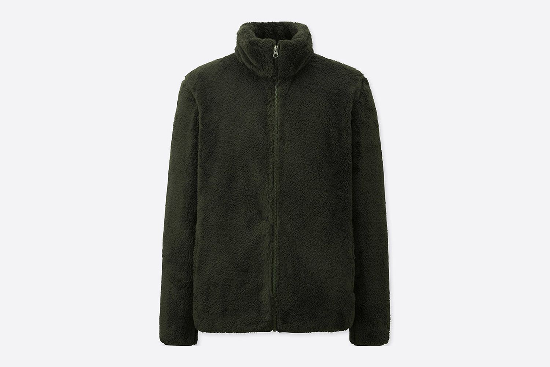 Pile-Lined Fleece Full-Zip Jacket