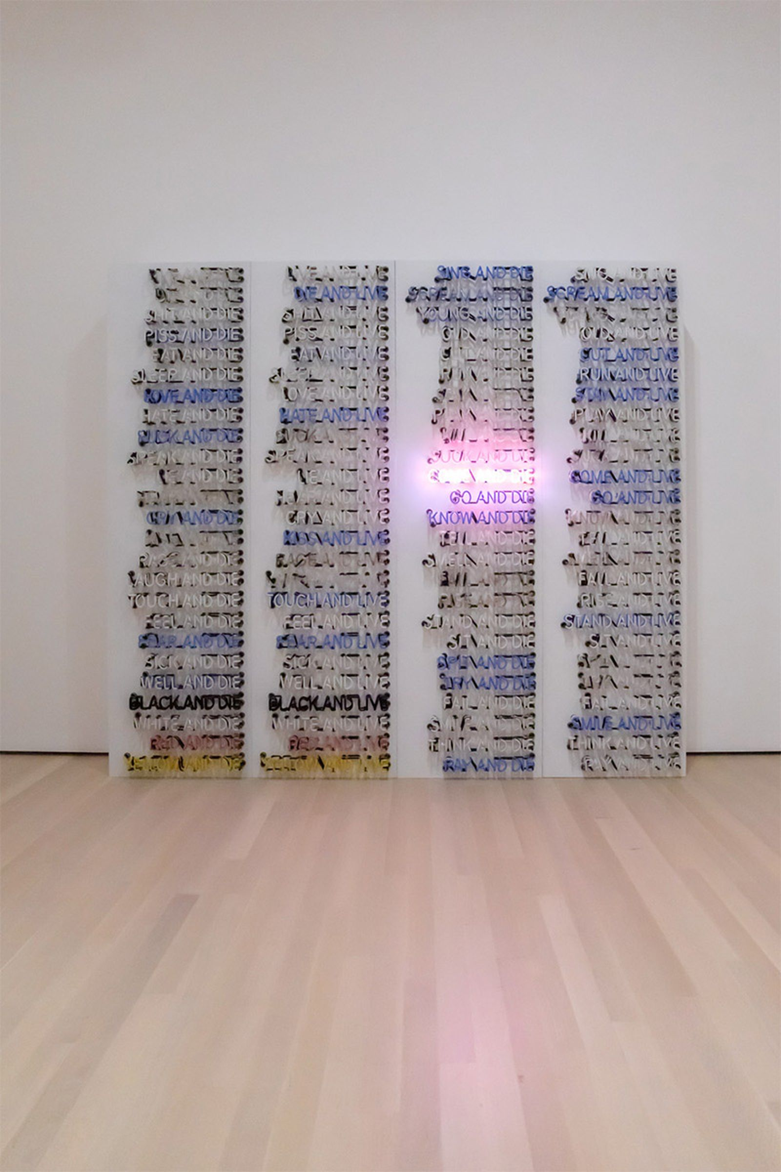bruce nauman disappearing acts exhibition moma new york city