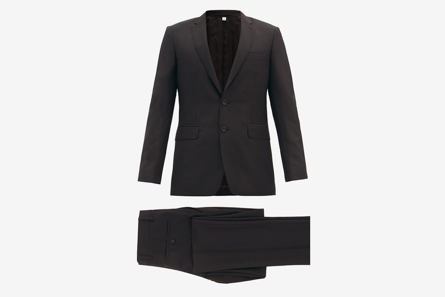 Single-Breasted Wool-Blend Crépe Suit