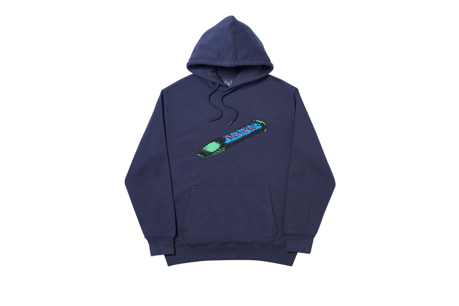 Palace 2019 Autumn Hood Chizzle Up navy front