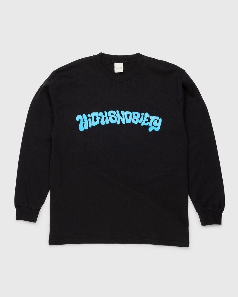 Highsnobiety – Arch Logo Longsleeve Black