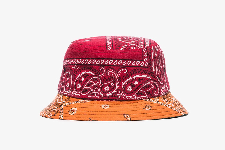 Multicoloured Bandanna Print Bucket Hat
