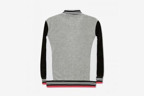Colorblocked Velour Jacket
