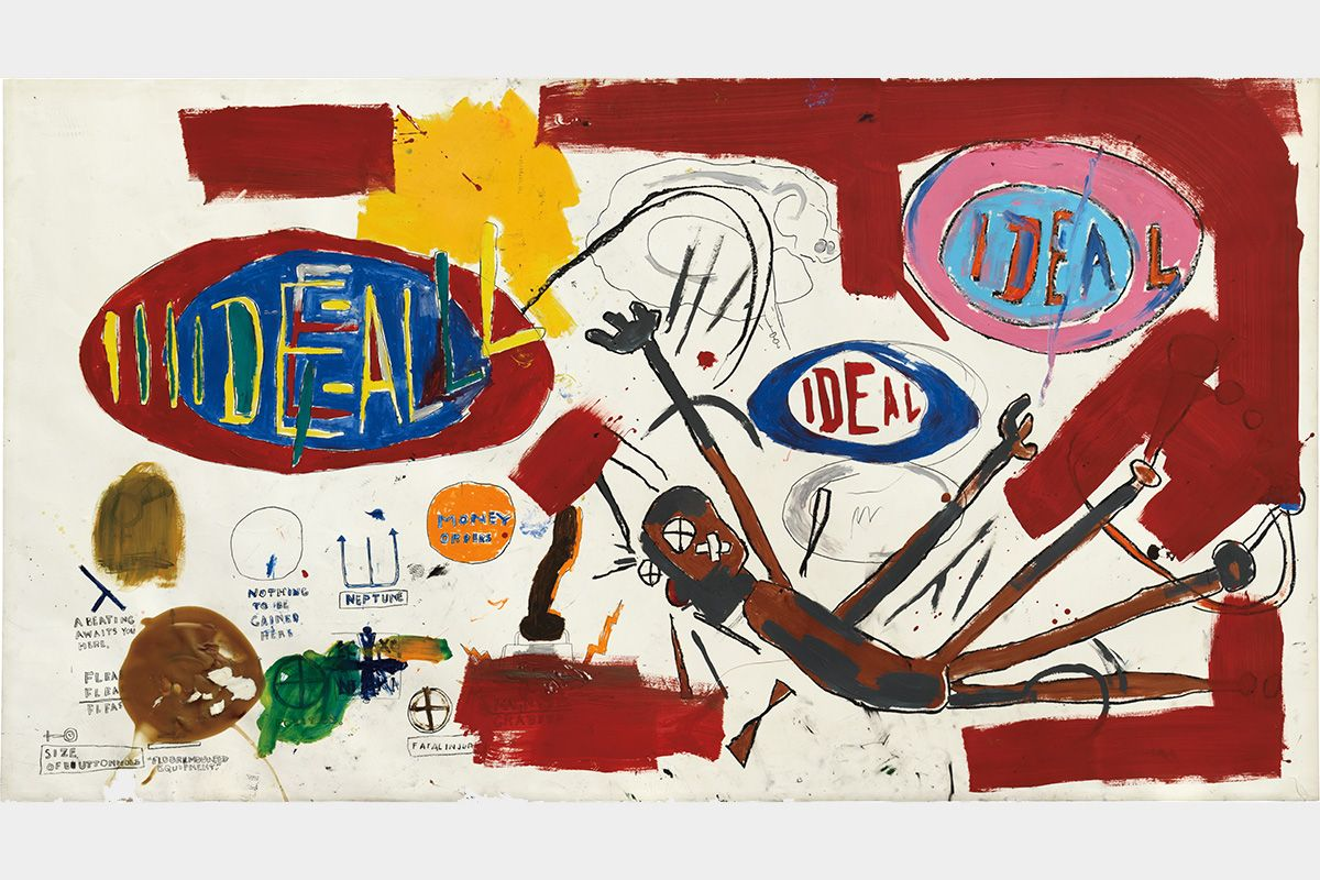 Jean Michel Basquiat 'victor' painting