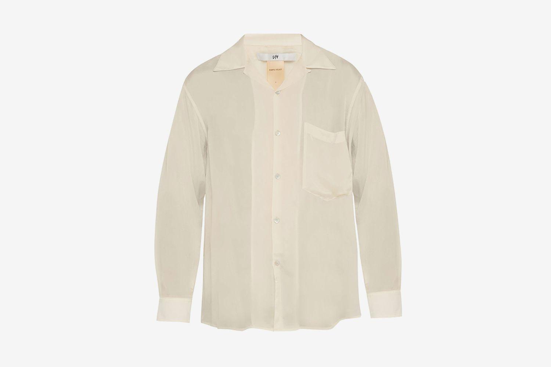 Semi-Sheer Satin Shirt