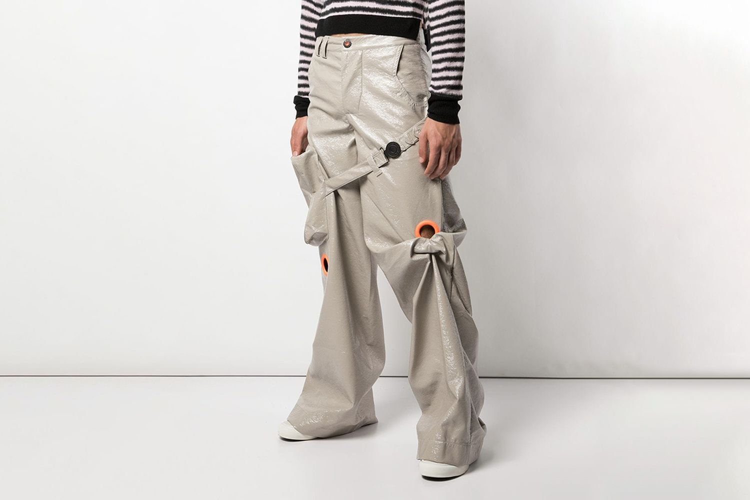 Oversized Large Eyelet Trousers